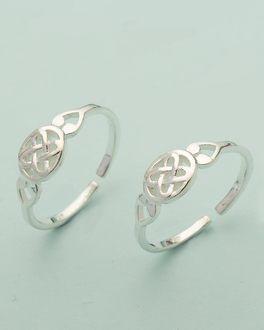 6992c065353 925 Sterling Silver Pair Of Toe Rings
