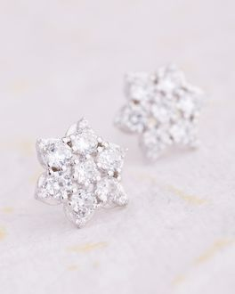 Beautiful Gem Studded Fl Earrings