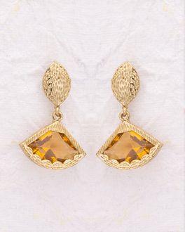 Designer Gem Studded Alloy Drop Earrings