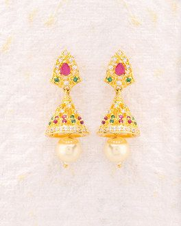 Buy Jhumka Online Pearl Gold Silver Antique Jhumki For Women