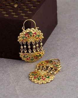 Precious Golden Empress Earrings