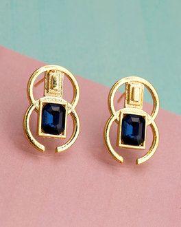 Blue Void Geomatrix Earrings