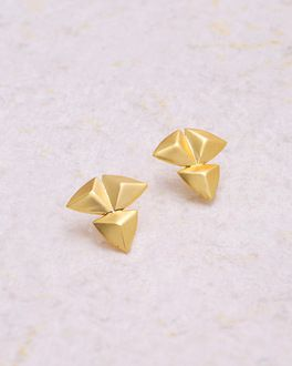 Stunning Gold Plated Br Earrings From Futuristic Spikes Collection
