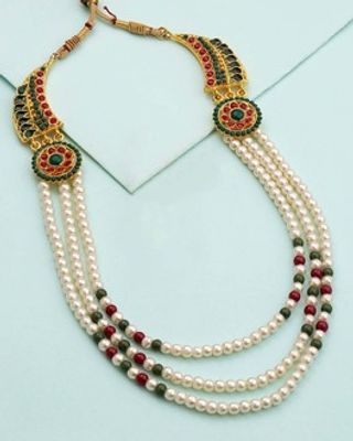 Pearl Necklace Studded with good charm