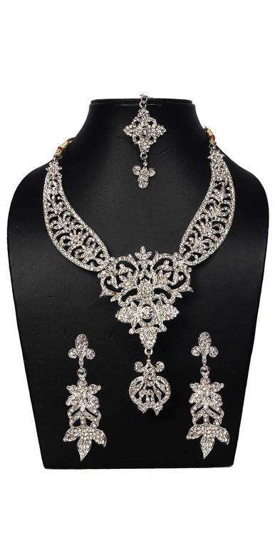 fda90f060 Buy Designer Necklace Sets Royal Ethnic Design American Diamond ...