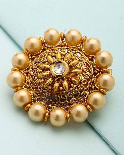 63de1980f Buy Designer Saree Pins Pearl Beaded Designer Saree Pin Online   VOYLLA