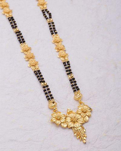 Nishkam Floral Mangalsutra with Gold Plating