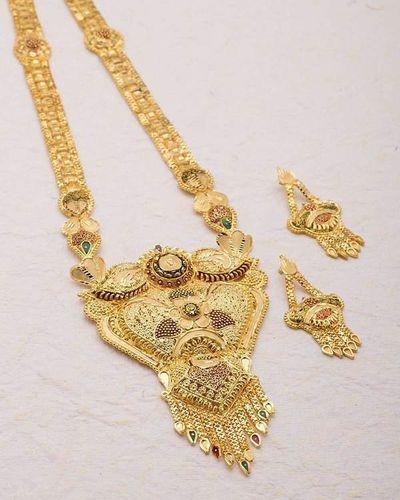 51bac22e86b5 Buy Designer Necklace Sets Floral Gold Plated Rani Haar Necklace Set Online