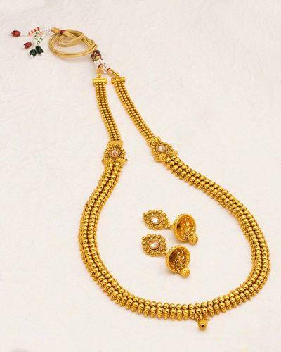 9556da7dfb6e Buy Designer Necklace Sets Alluring Gold Plated Sanskriti Rani Haar  Necklace Set Online