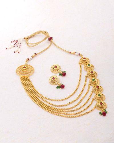4b8d51ae5291 Buy Designer Necklace Sets Circular Design Gold Plated Sanskriti ...