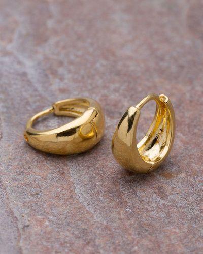 cd43275e0539fe Buy Designer Mens Earrings Yellow Gold Plated Hoop Earrings For Men From  Dare By Voylla Online | VOYLLA