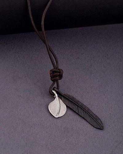 7b755eb3 Buy Designer Mens Necklaces Dual Feather Motorcycle Roadies Necklace ...