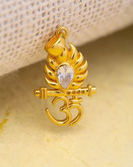 Spiritual Saga Inspired OM Krishna Pendant