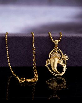 Ganesha Pendant With Chain Dare By Voylla For Men