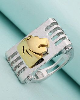 Leo Zodiac Symbol Designed Ring For Men