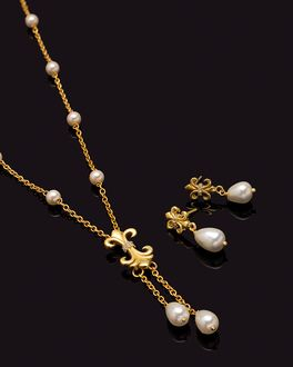fe7d71c3c2 Buy Pearl Jewelley Sets Online - Pearl Ornaments, Necklace Sets for ...