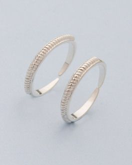 b84d24535 925 Silver Sterling Toe Rings With Thread Pattern