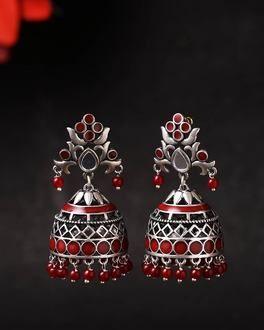 6053856b729 Rangabati Cutwork and Beads Earrings
