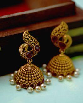 1c135c5b9d7ec0 Buy Jhumka Online – Pearl, Gold/Silver, Antique Jhumki for Women ...